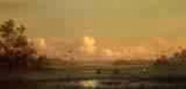 Evening Lake Alto Florida 1883jpeg